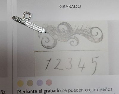 Dije lápiz plata El Trébol de 4